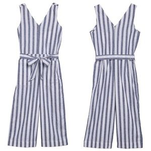 BEACH LUNCH LOUNGE Lennon Tie Waist Linen Jumpsuit